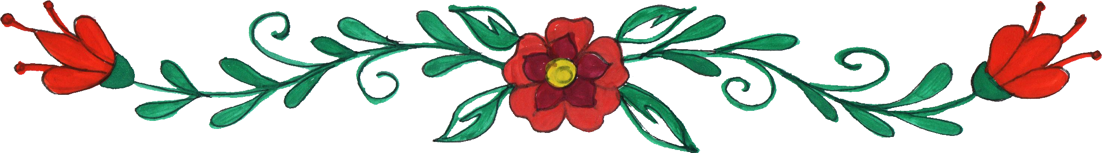 Flower border png. Drawing transparent onlygfx