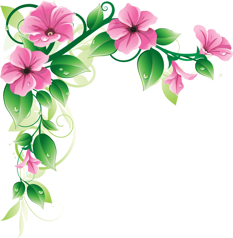 Flowers borders transparent images. Flower border png image black and white library