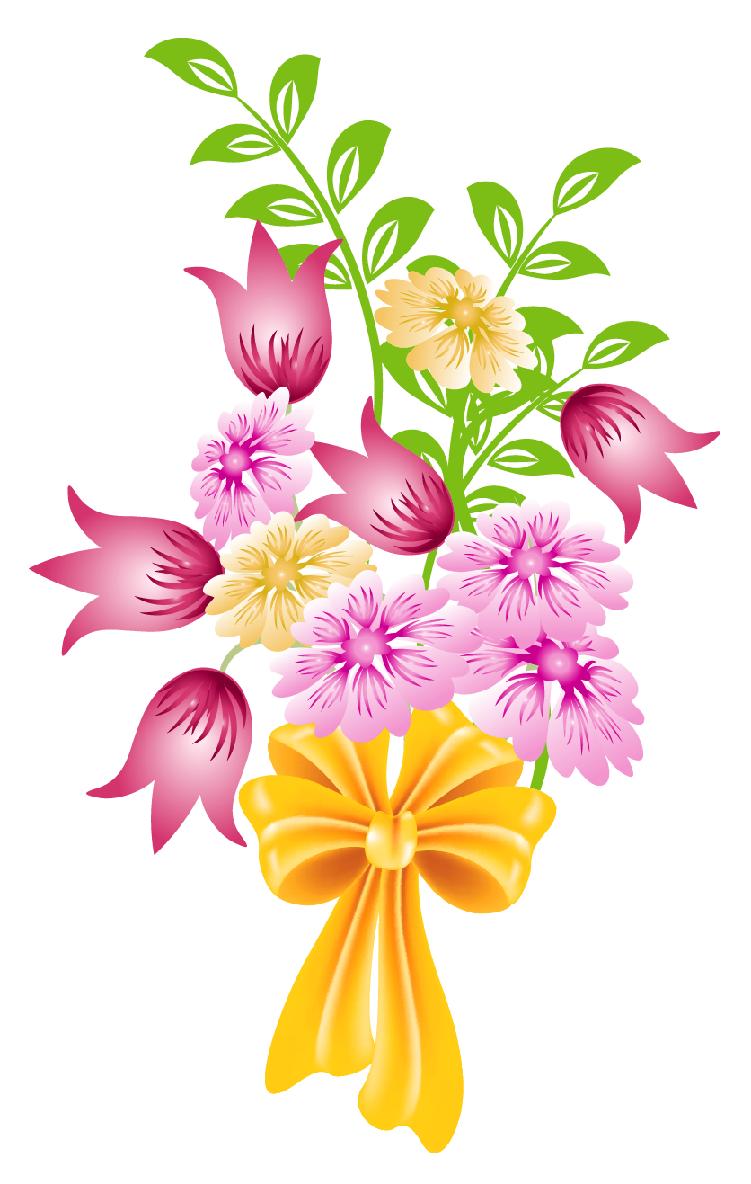 Spring flower clip art. Vector bouquet clipart royalty free library