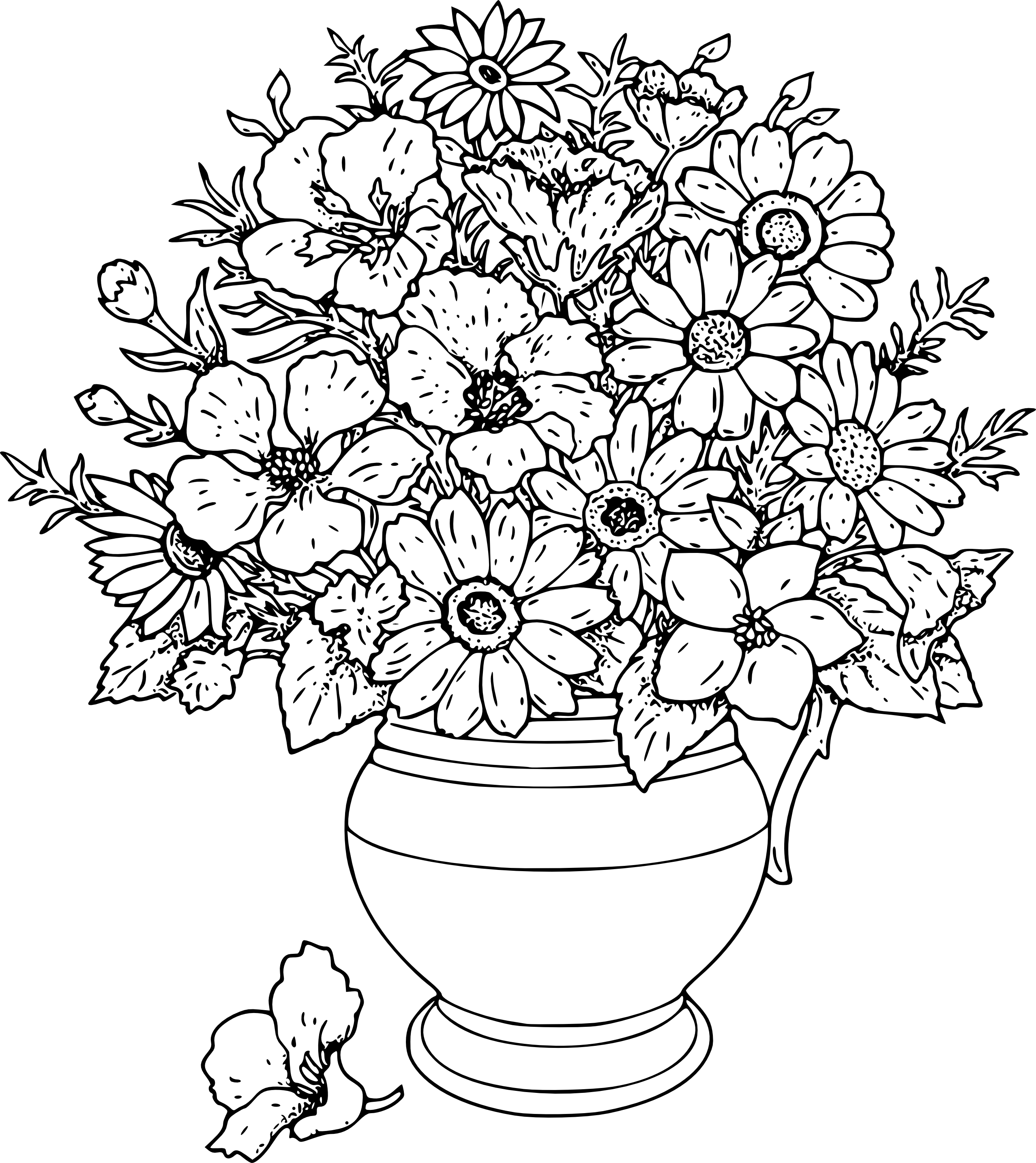 Flower bouquet drawing png. Bunch of flowers at
