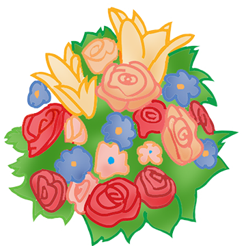 Flower bouquet drawing png. Wedding clipart at getdrawings