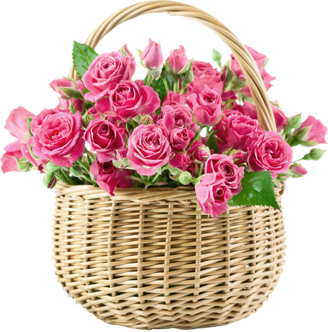 Flower bouquet images png. Rose basket pink physical