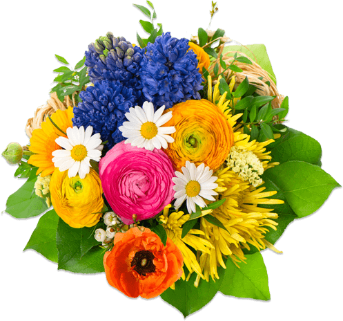 Flower bouquet png. Flowers round transparent stickpng
