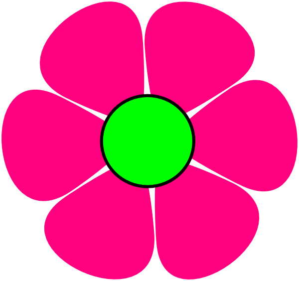 Flower cartoon png. Pink clip art at