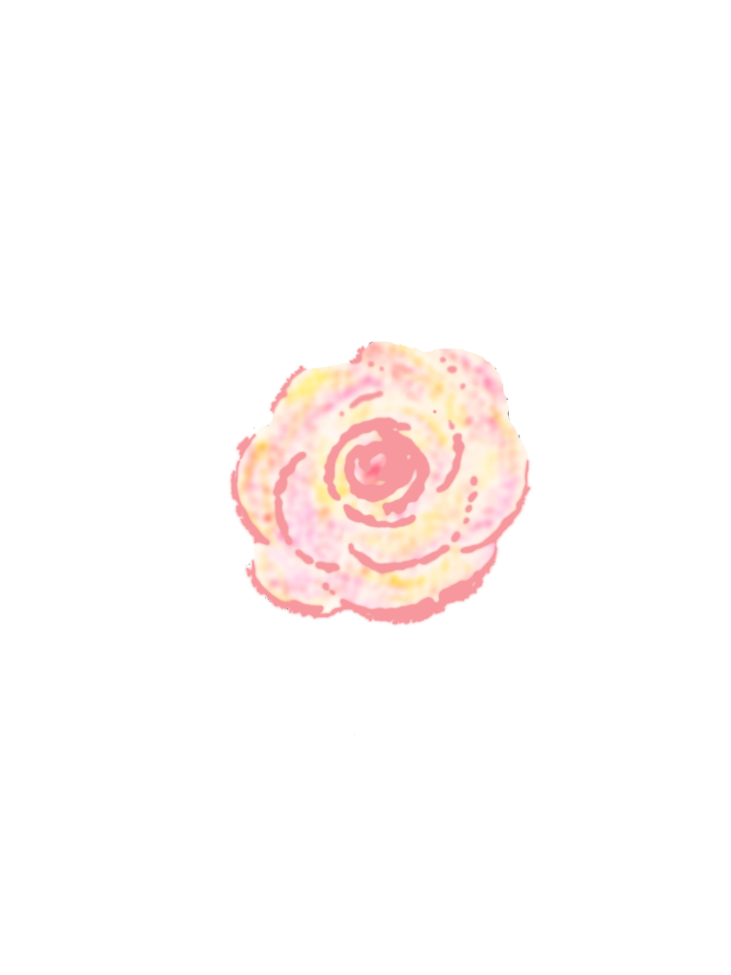 Flower chalk art png. Free graphics abstract watercolor