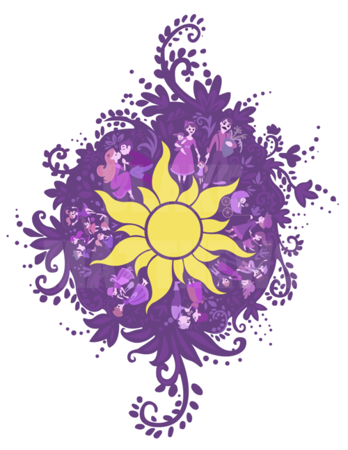 Flower chalk art png. Tangled this would be