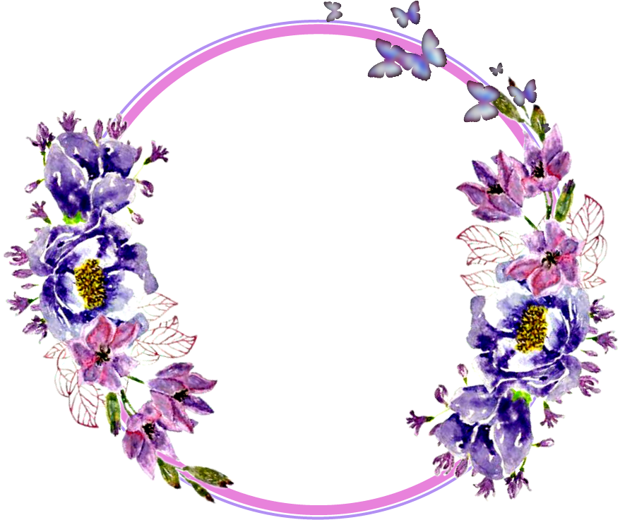 Flower circle png. Download hd flowers stickers