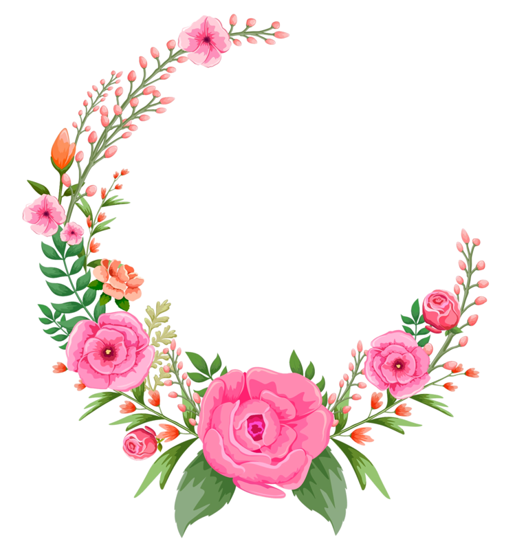 Flower circle png. Roses rose pinkroses pink