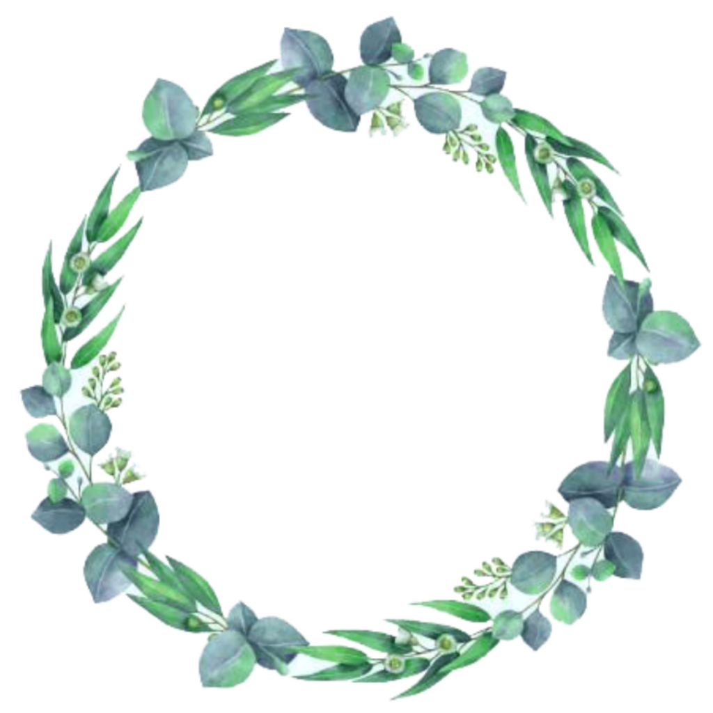Flower circle png. Leaves flowers crown ftestickers