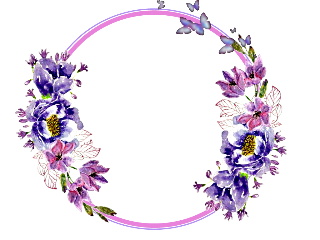 Flower circle png. Flowers stickers garland wreaths