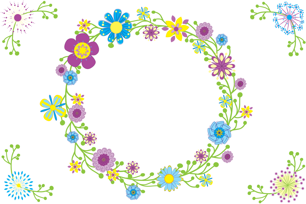 Flower circle png. Quirky font otf and