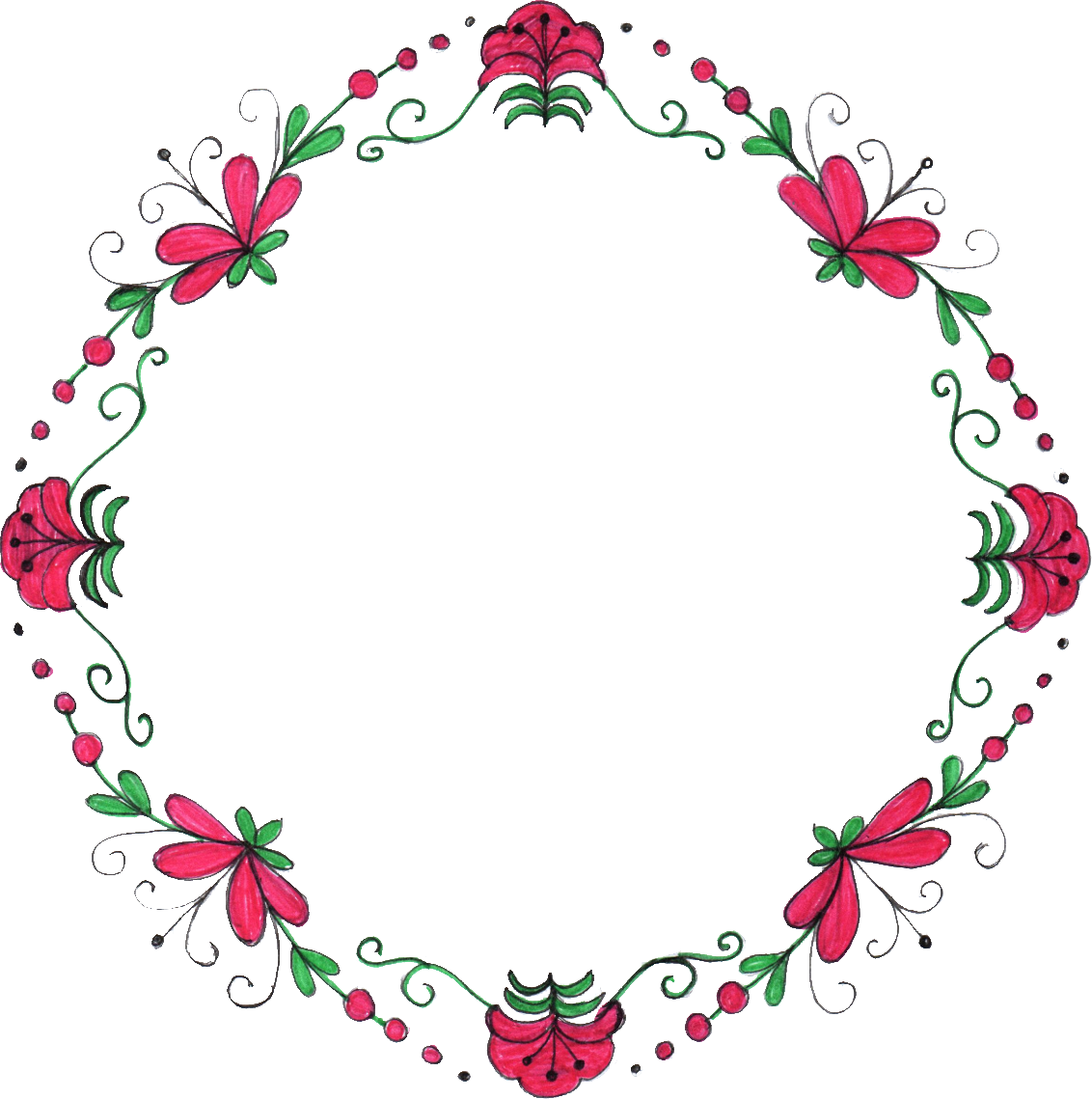 Flower circle png. Drawing frame transparent