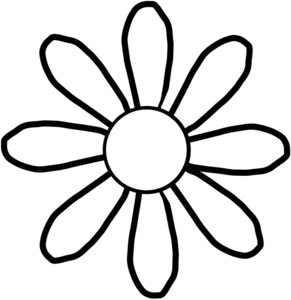 White flower clipart png. Free black and flowers