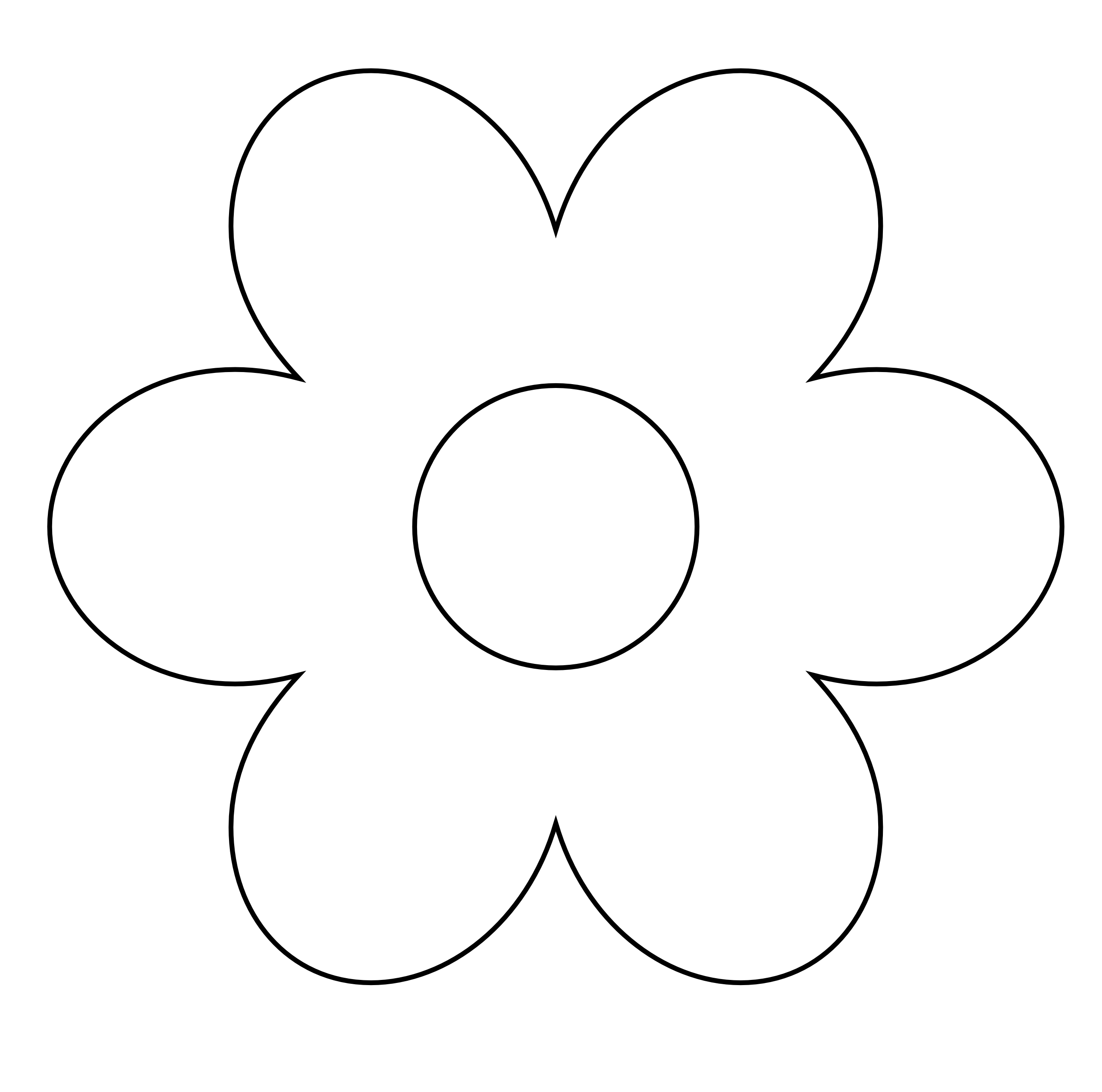 Simple flower png. Black and white transparent