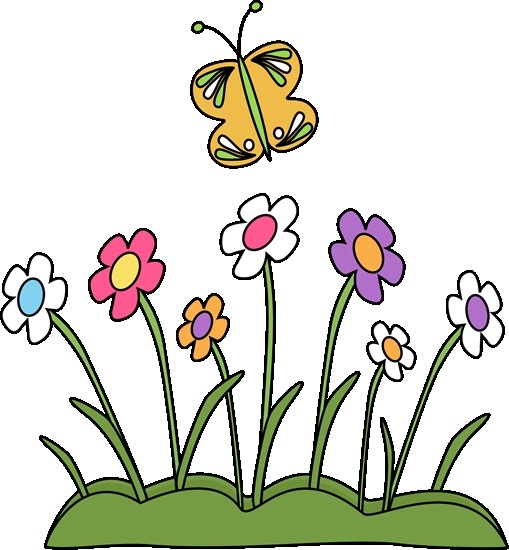 Flower clipart butterfly. Clip art and panda