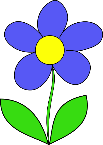 Animated flower png. Free cartoon cliparts download