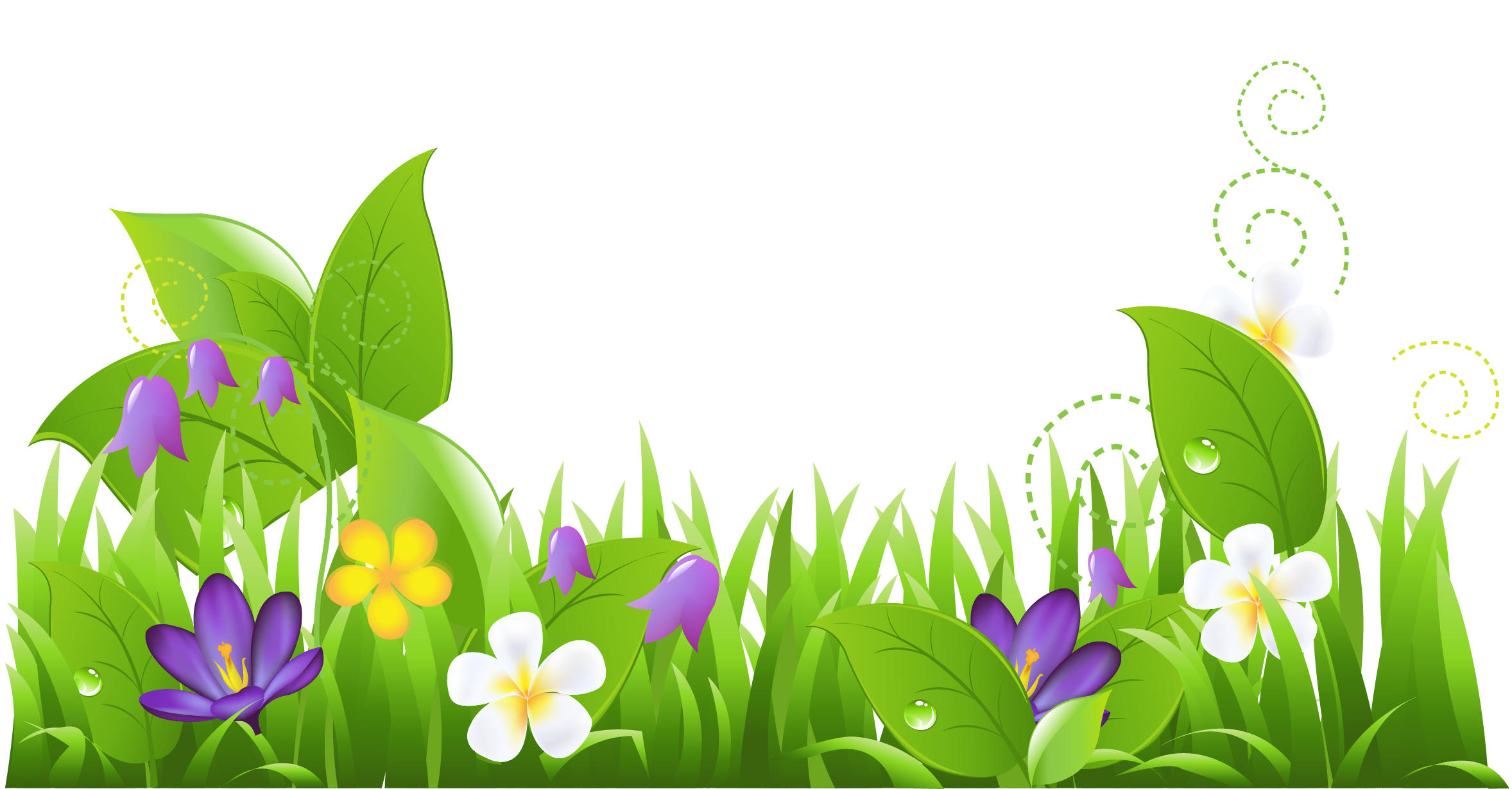Flower field png. Grass and flowers clipart