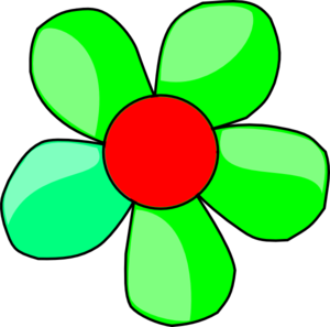 Flower clipart green. Clip art at clker