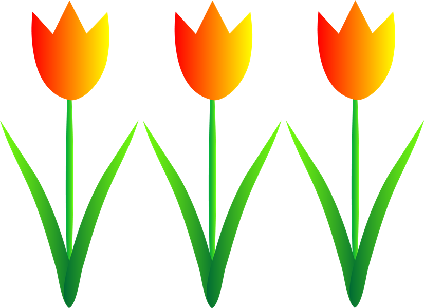 Row clipart row spring flower. Free download clip art