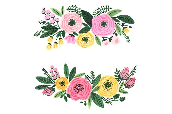 Garden flowers illustrations creative. Flower clipart watercolor vector royalty free stock