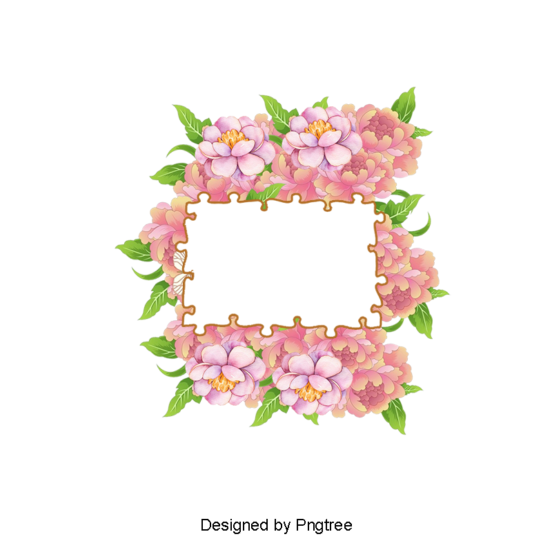Hand painted borders png. Flower clipart watercolor jpg free download