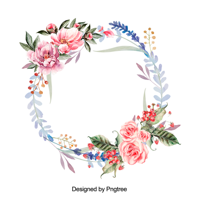 Beautiful hand paint floral. Watercolor wreath flower png png royalty free