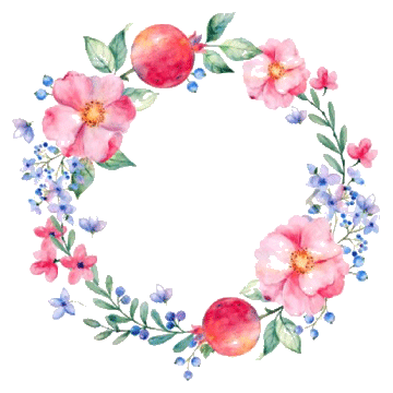 Hand painted painting clipartflower. Flower clipart watercolor stock