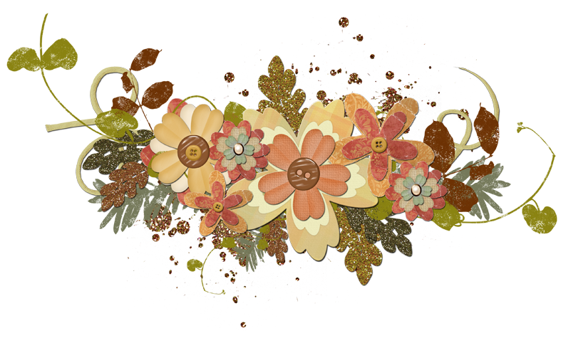 Flower cluster png. Scrappin it digital fall