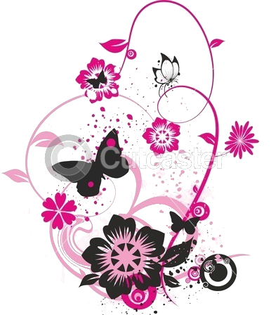 Flower cluster png. Pink by hanabell on