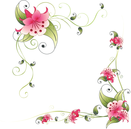 Flower corner design png. Pinterest and decoupage