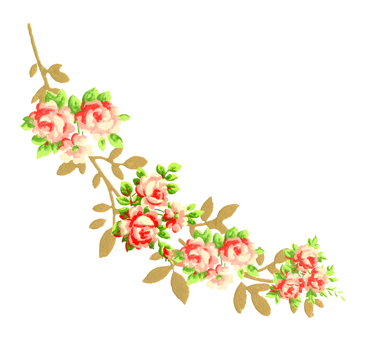 Flower corner design png. The graphics monarch baby