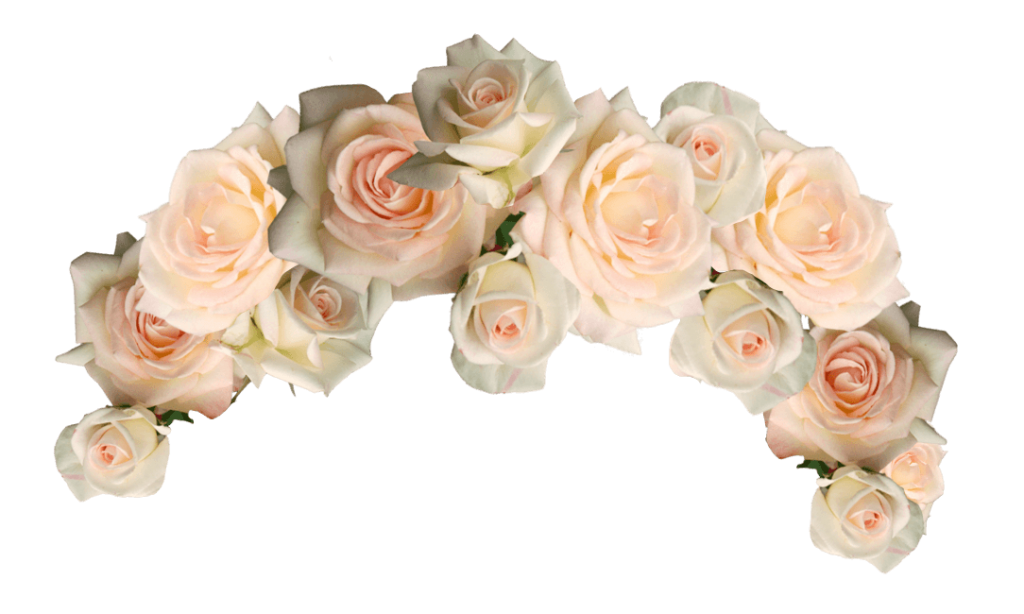 Flowers crown png. Flower photo vector clipart