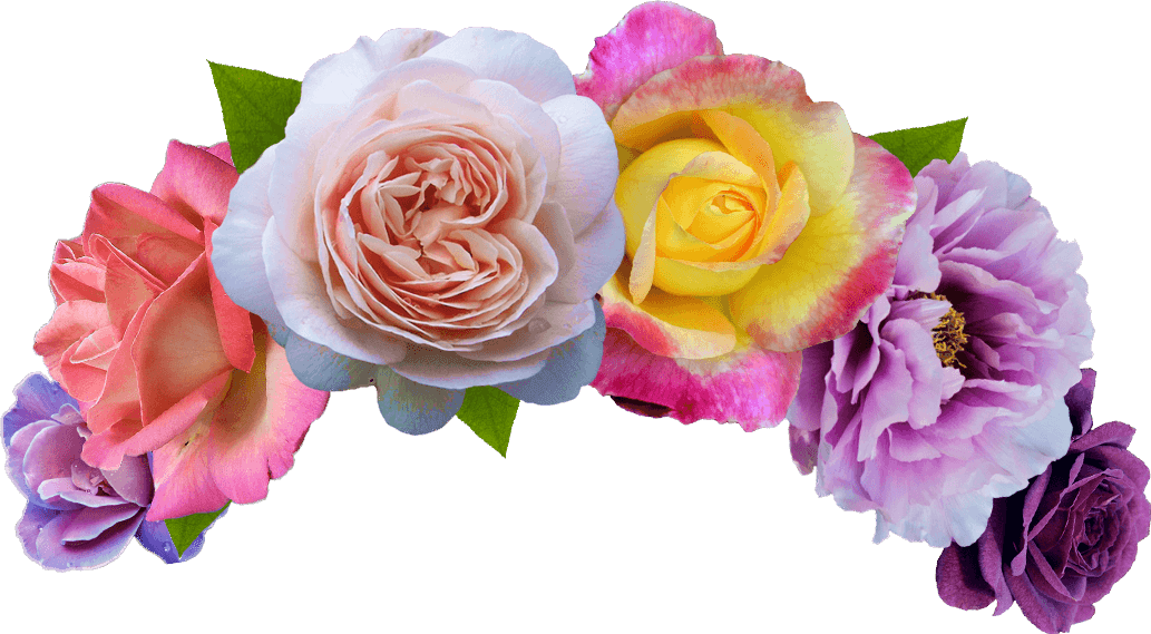 Flower crown png. Colorful transparent image mix