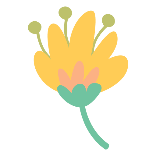 Flower png vector. Doodle icon transparent svg