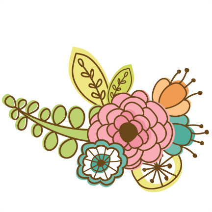 Flower doodle png. Flowers svg cutting files