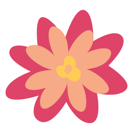 Flower png vector. Doodle illustration simple transparent