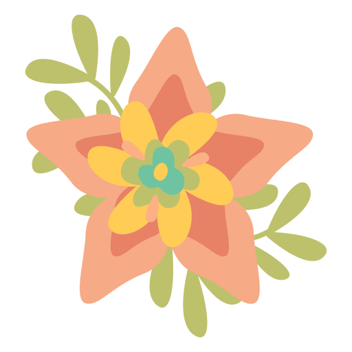 Flower doodle png. Flat transparent svg vector