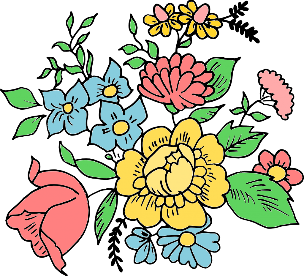Drawn flowers png. Flower drawing ornament