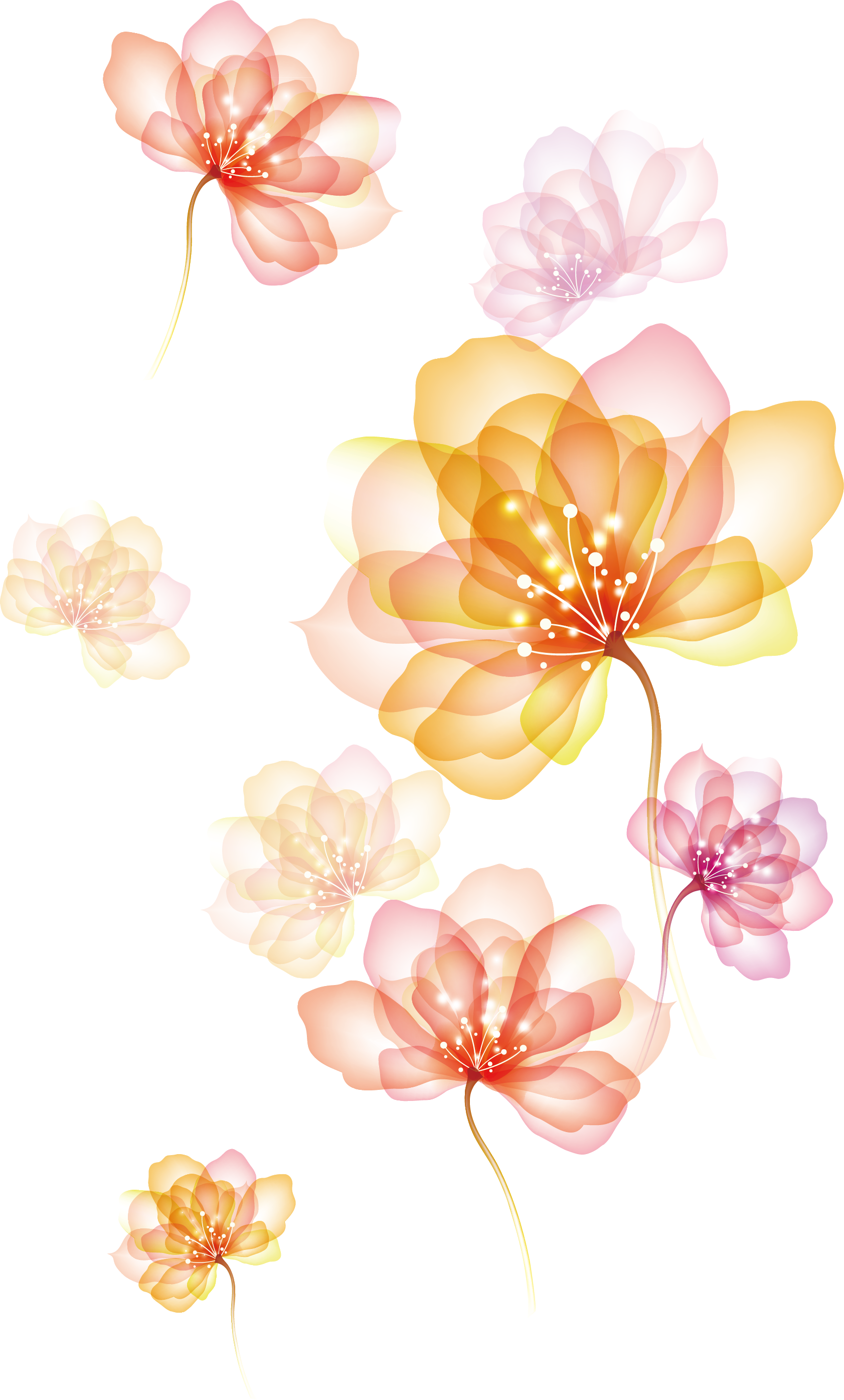 Flower effect png. Of spreading flowers transprent