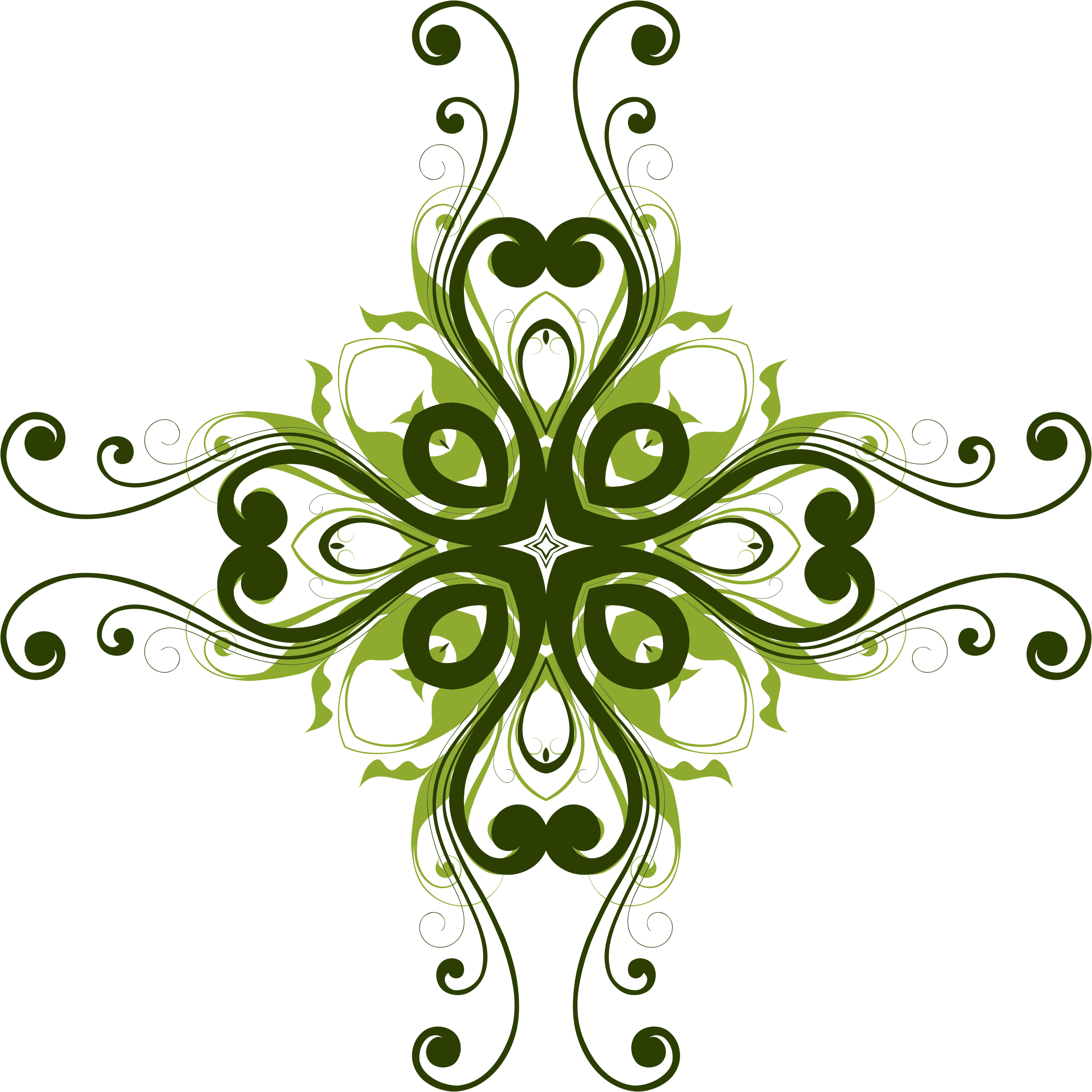 Flower flourish png. Design icons free and