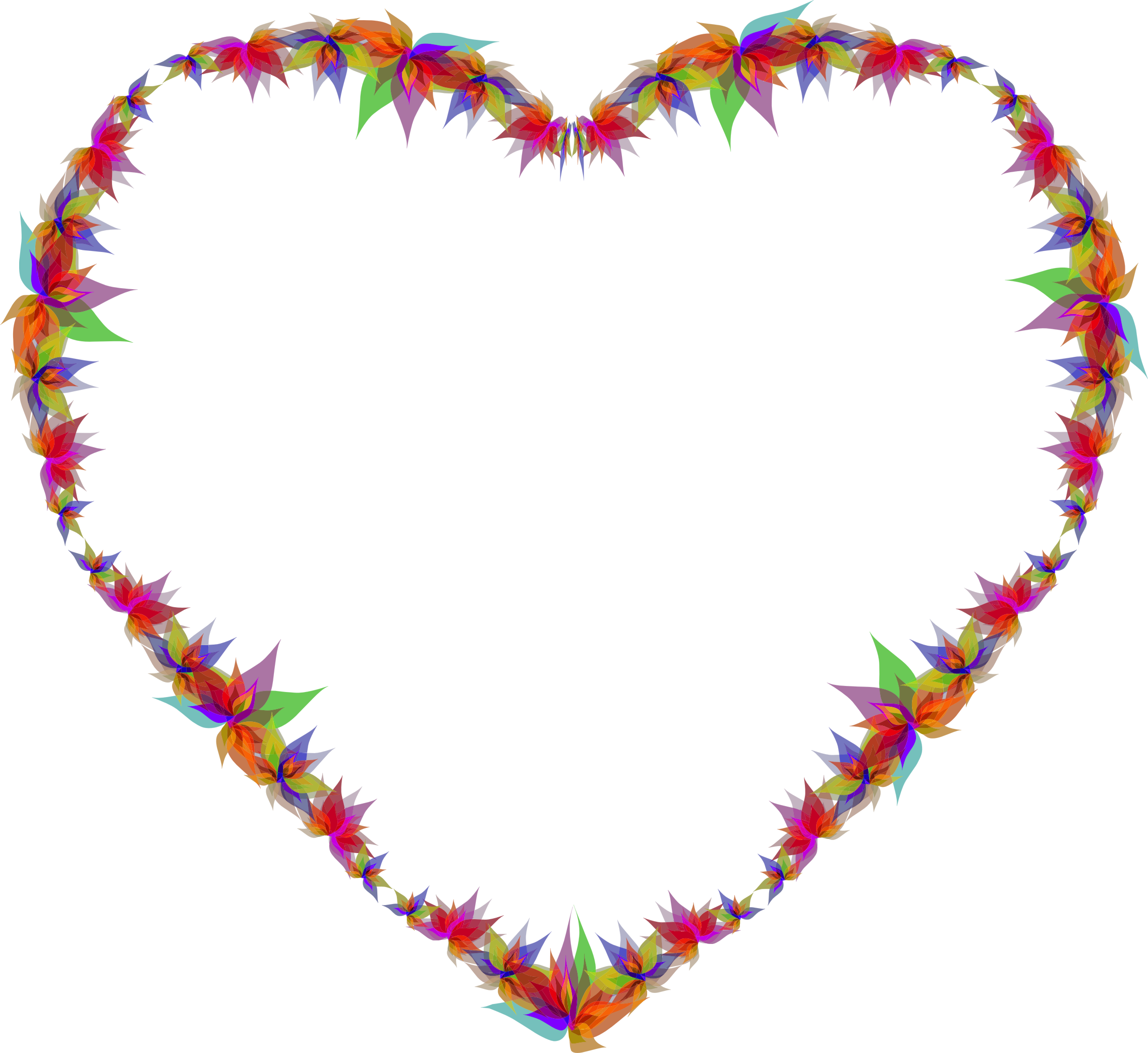 Flower heart png. Abstract flowers icons free