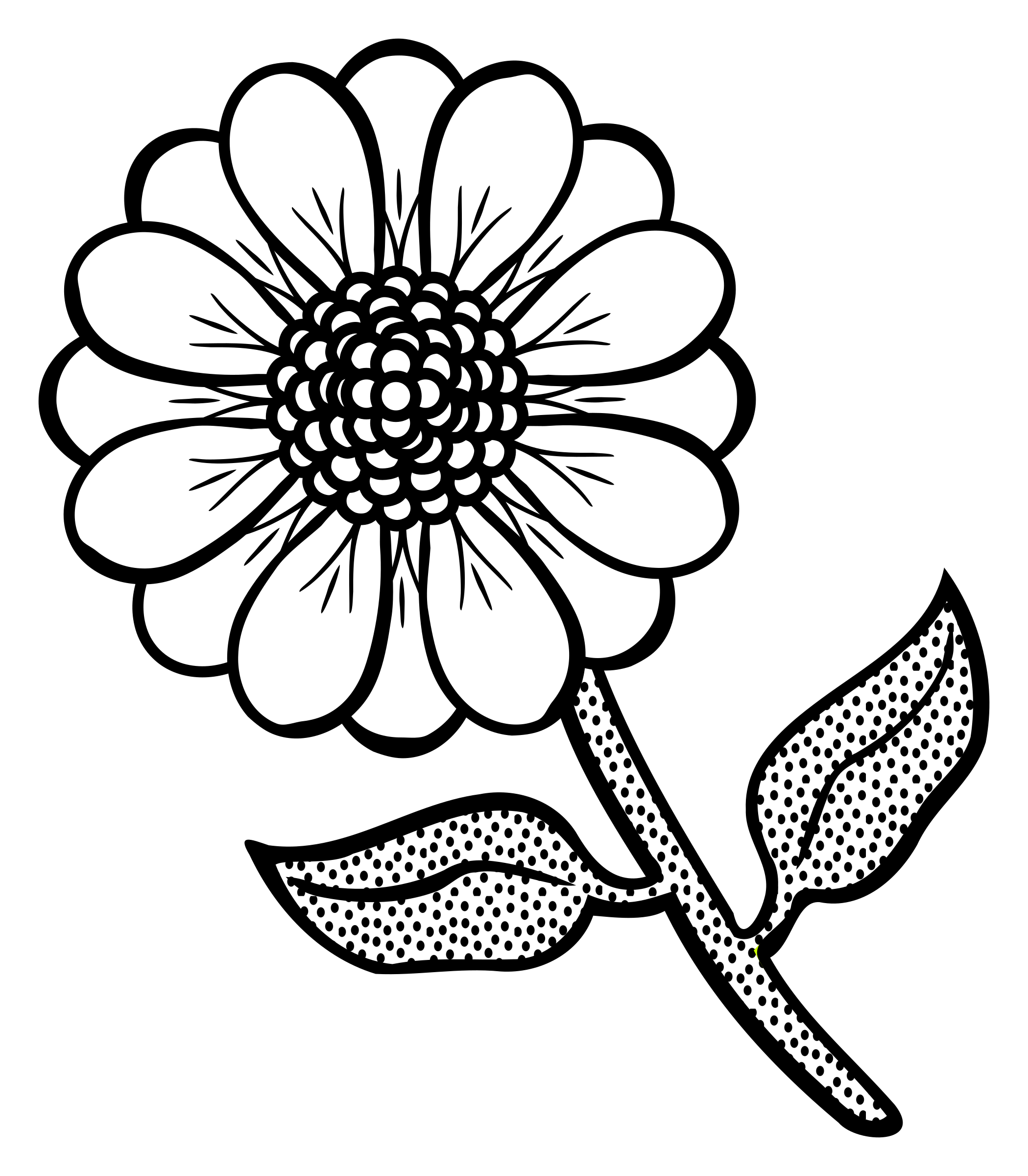 Flower line art png. Lineart icons free and
