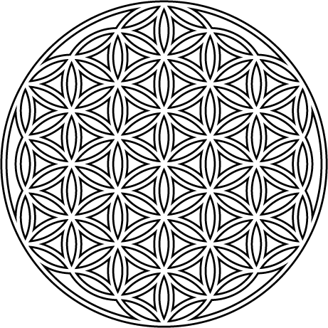 Flower of life png. The first glass design