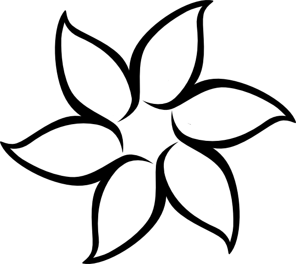 Flower outline png. Great template for craft