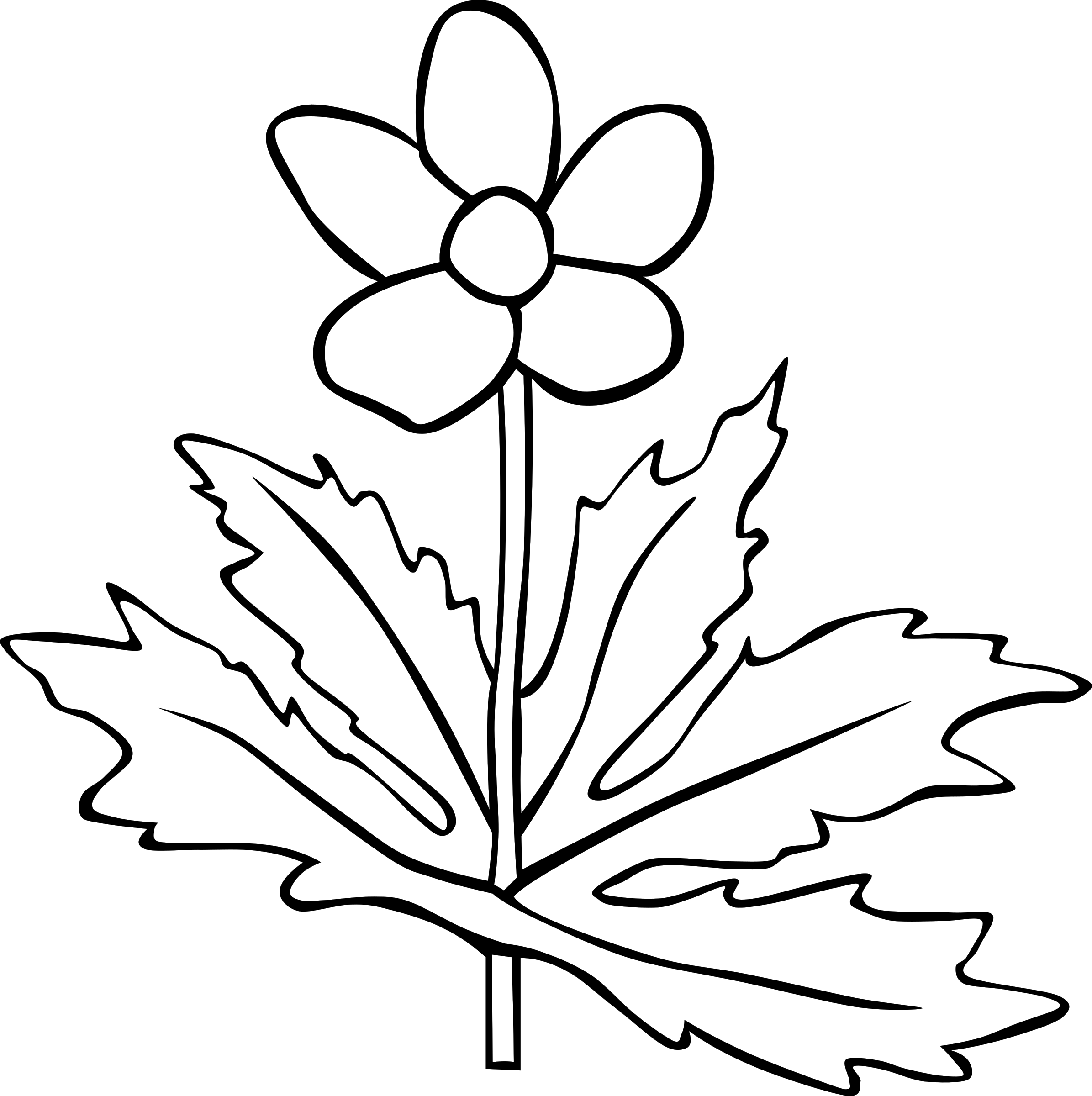 Flower outline png. Anemone canadensis icons free