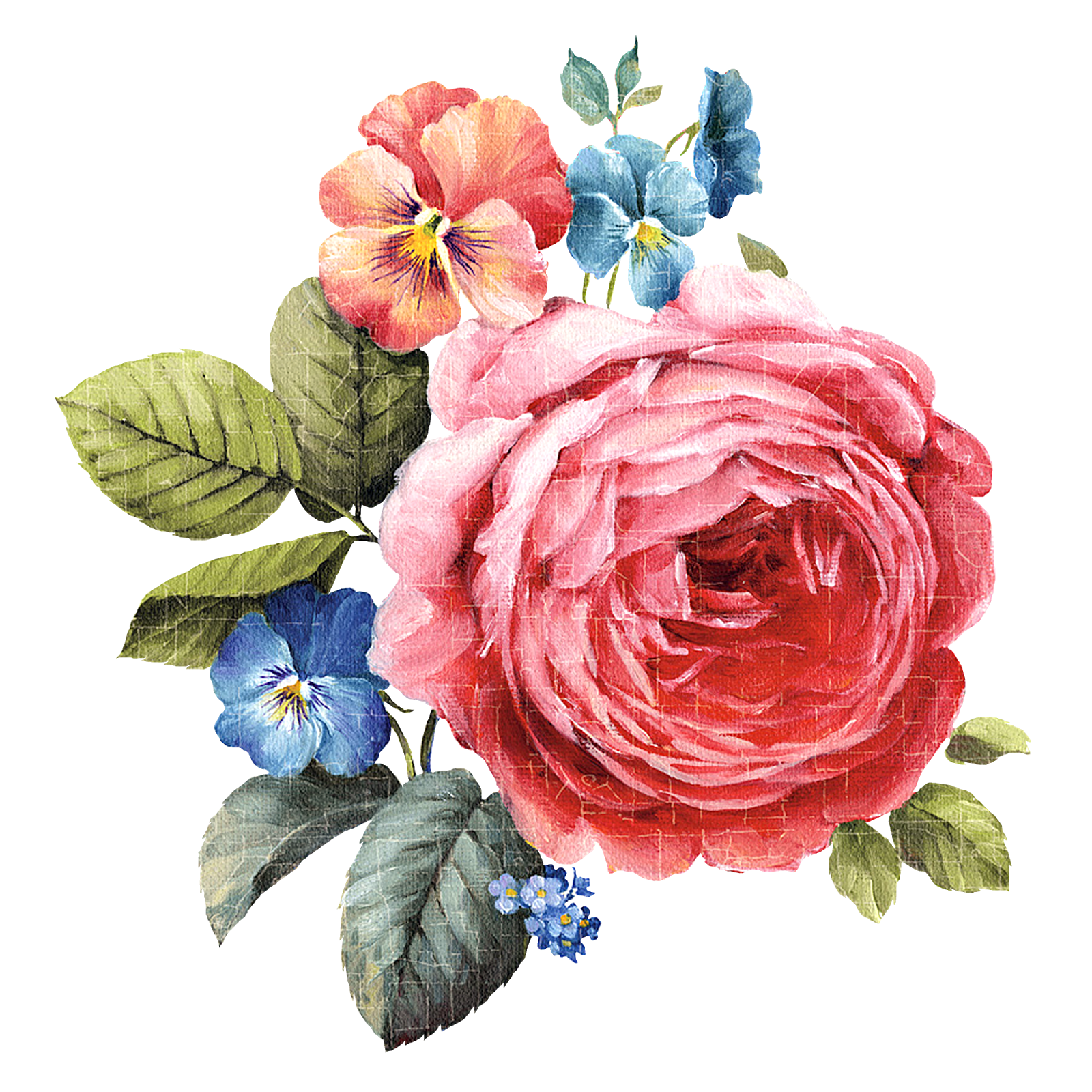 Png flowers. Decoupage flower painting pattern