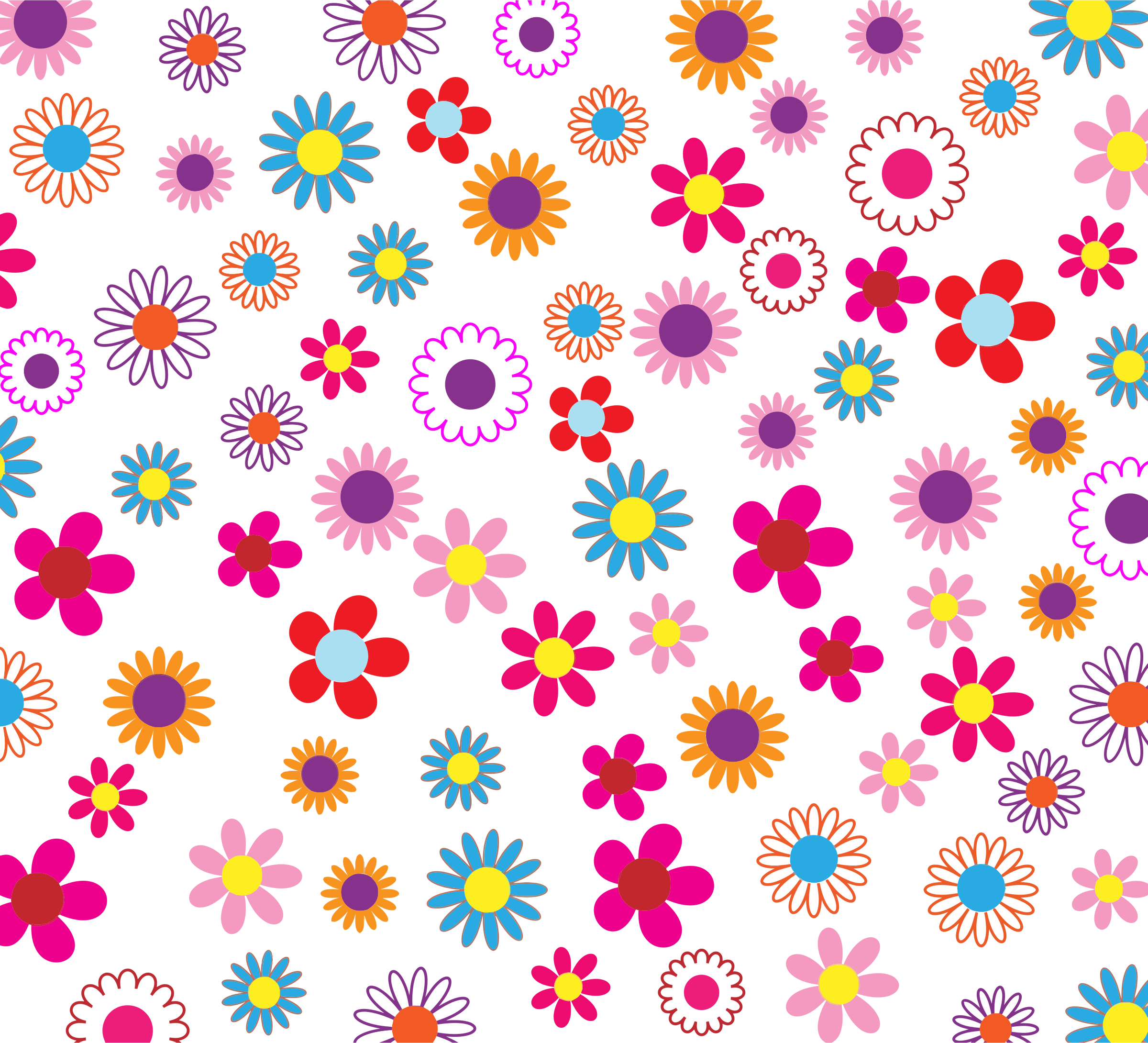 Floral patterns png. Colorful pattern background by