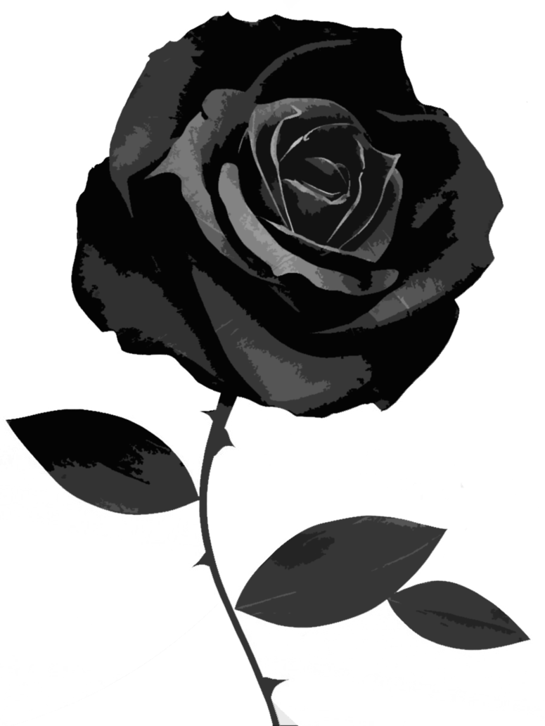 Rose Flower Black And White Png