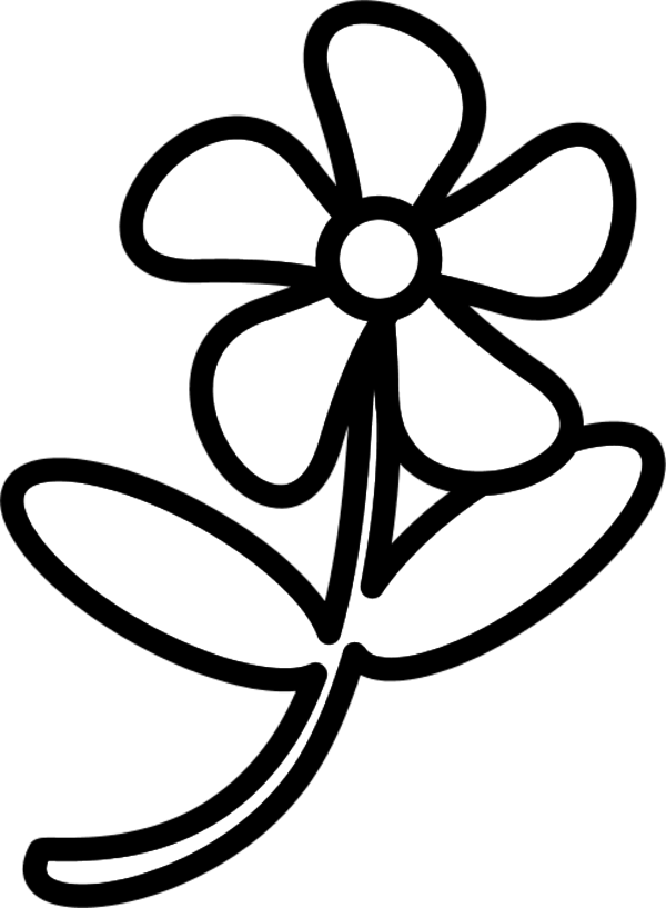 Flower png outline. Clipart