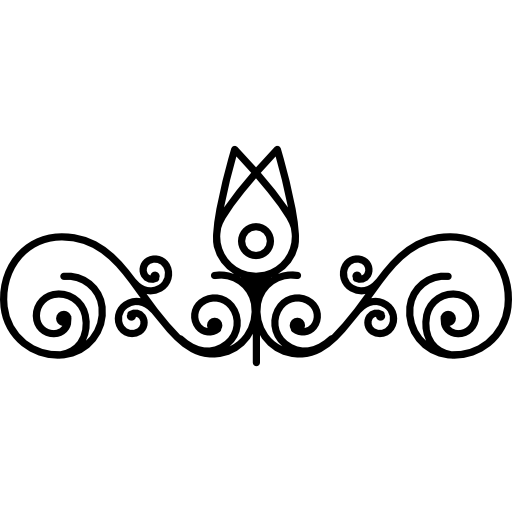 Flower png outline. Bud and vines design